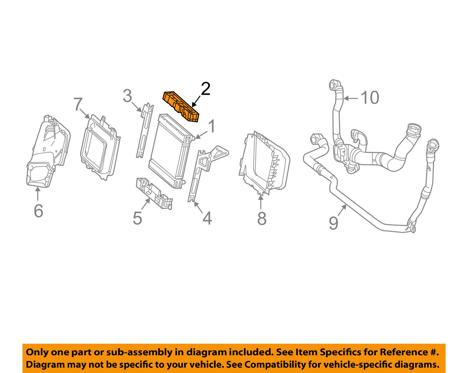 Mercedes-Benz Genuine Auxiliary Radiator Upper Bracket 222-505-04-40 by Mercedes Benz (Image #1)