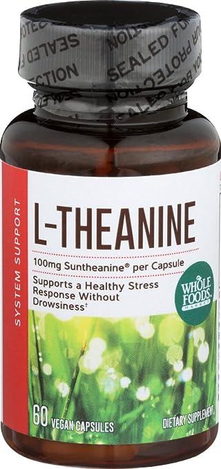 Amazon com: Whole Foods Market, L-Theanine 100mg, 60 ct