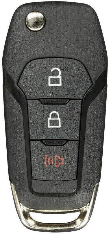 FikeyPro Keyless Remote Flip Key Fob for Ford F-150 F-250 F-350 Explorer N5F-A08TAA 2 Pack