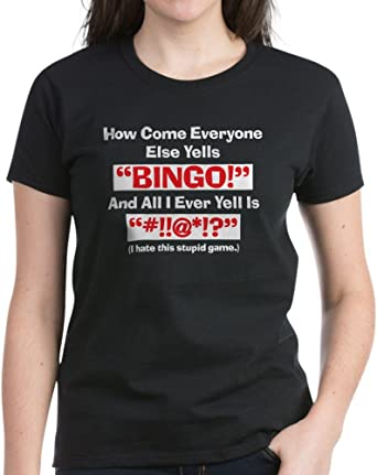 Women/'s T Shirt Women/'s T-Shirt CafePress BINGO! 237064512