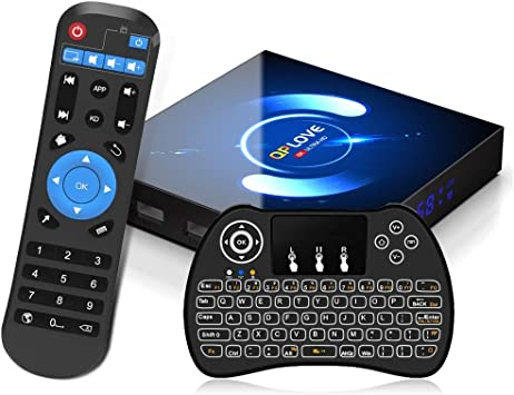 Android 10.0 TV Box, QPLOVE Q6 4GB RAM 32GB ROM H616 Quad-Core 64bit, 2.4/5GHz WiFi 6K / 4K Ultra HD / 3D / H.265 Smart TV Box con Mini Teclado inalámbirco: Amazon.es: Informática