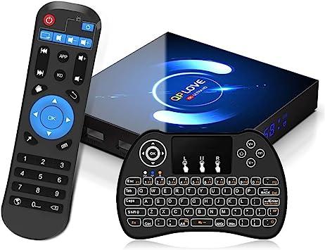 Android 10.0 TV Box, QPLOVE Q6 4GB RAM 32GB ROM H616 Quad-Core 64bit, 2.4/5GHz WiFi 6K / 4K Ultra HD / 3D / H.265 Smart TV Box con Mini Teclado ...