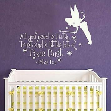 Etiqueta de la pared Peter Pan dibujos animados vinilo ...