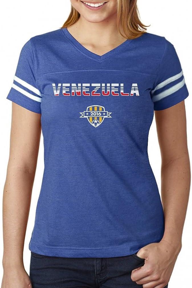 Tstars Playera de fútbol para Mujer de la selección Nacional de Venezuela - Azul - X-Large: Amazon.es: Ropa y accesorios