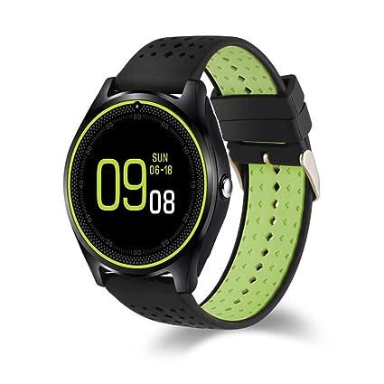 Wolfsay Brazalete Deportivo V9 Reloj Inteligente con cámara Deporte podómetro Bluetooth SmartWatch Soporte SIM TF Tarjeta
