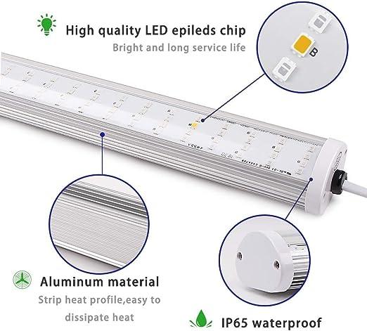 Roleadro LED Pflanzenlampe Streifen Grow LED 150W 2G11 pflanzenlicht IP65 Vollspektrum mit IR Rot Blau 2700K 6500K Licht für Indoor Wasserkultur