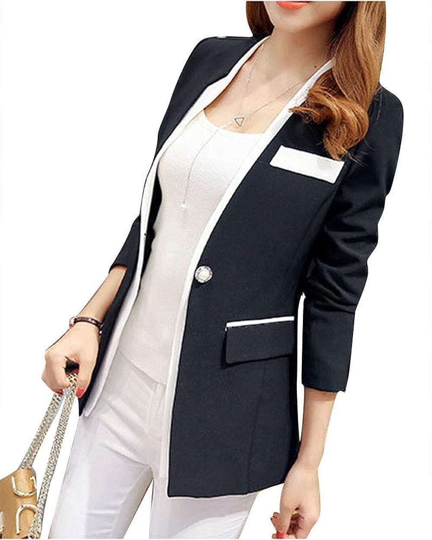 ba18062a08f Betrothales Femme Costume Automne Manches Longues Manteaux Button Outwear  Outerwear Slim Fit Affaires Veste De Bonne ...