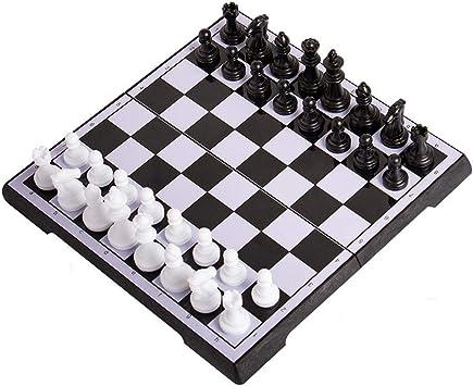 Ajedrez de Madera, Plegable Juego de ajedrez, ajedrez magnético, Regalo y Juegos de Mesa for Adultos y niños (Color : A , Size : L) : Amazon.es: Juguetes y juegos