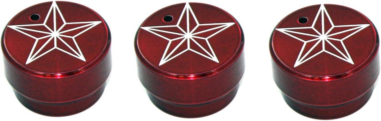 All Sales 9401STR Star Heater//AC Knob, Pack of 3