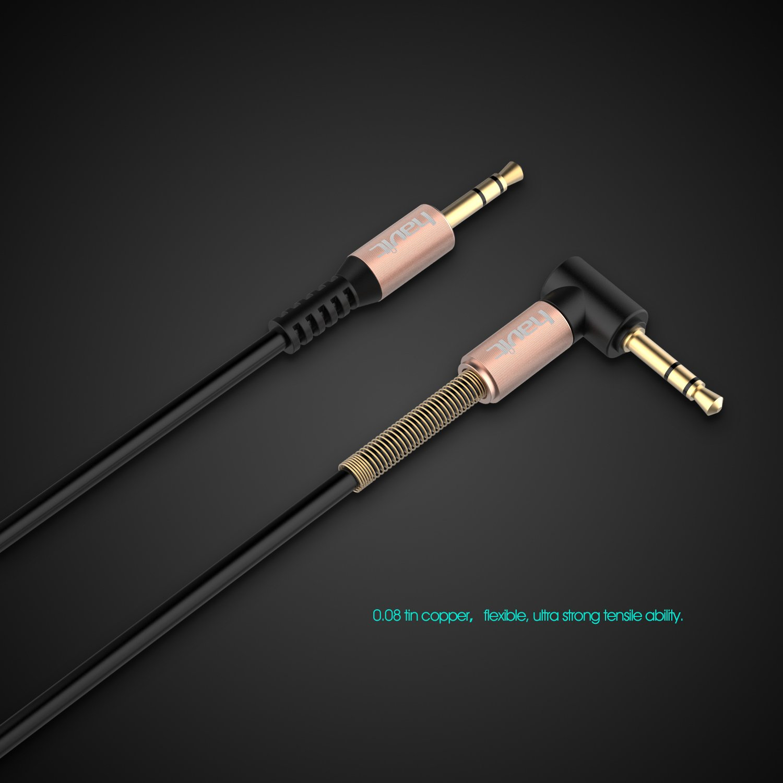 HAVIT 3.5mm Aux-Audiokabel Spiralkabel, Audio: Amazon.de: Elektronik