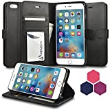 iPhone 6S PLUS Case, iPhone 6 PLUS Case Abacus24-7 Wallet Case with Leather Flip Cover, Black offers