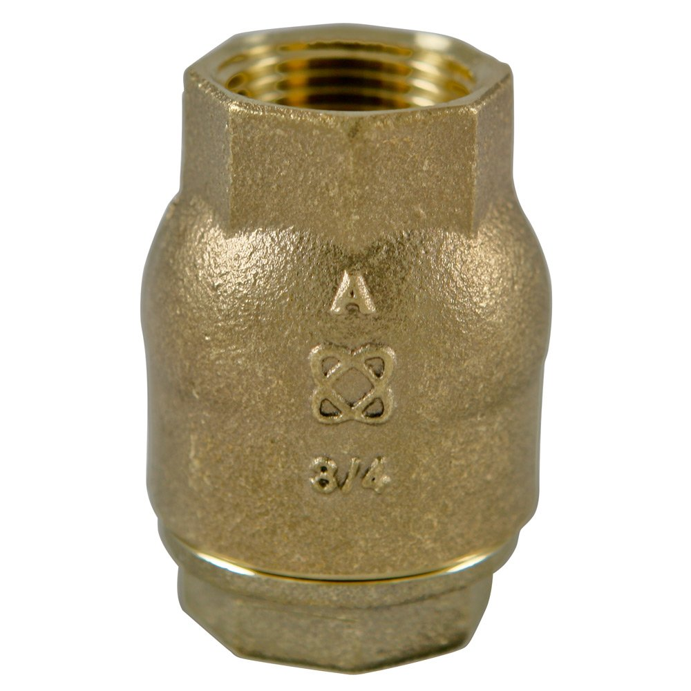 NIBCO T-480-Y-LF Silicon Bronze Lead-Free Check Valve, Inline, PTFE Seat, 1'' Female NPT Thread (FIPT)