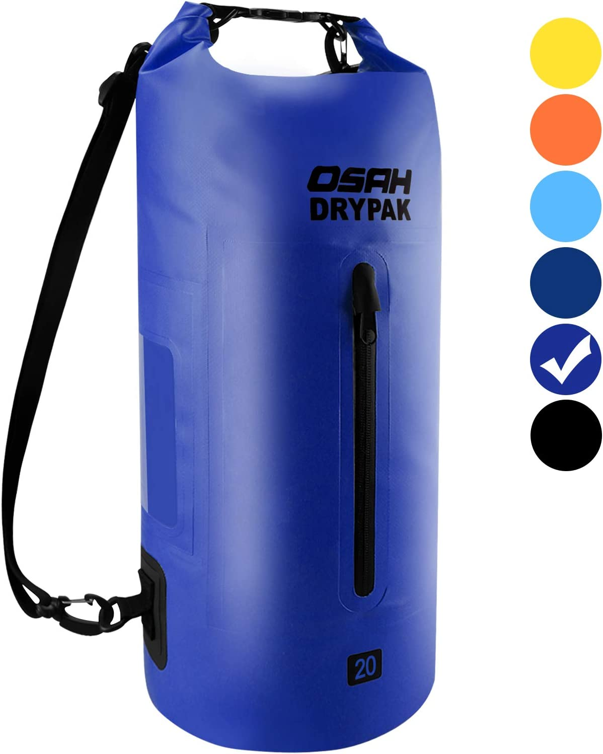 OSAH DRYPAK Waterproof Dry Bag 5L 10L 15L 20L 30L Dry Sack Bags with Shoulder Straps Keeps Gear Dry for Boating Kayaking Camping Hiking Swimming Rafting Beach Fishing
