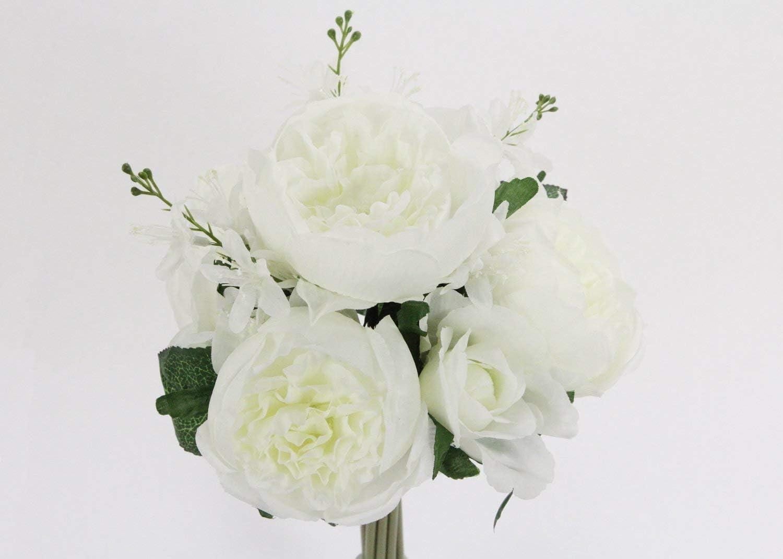 Rose Silk Flower Bouquet Cream