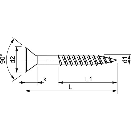50/unidades KP de 50 secotec JD-79/ /Tornillo Torx cabeza avellanada 6/x 180/mm galvanizado de azul TG v104/a449s637