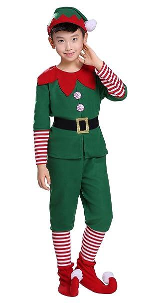 Amazon.com: Disfraz de elfo de Navidad para niños, lindo ...