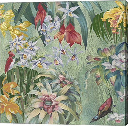 Jungle Orchids by Bill Jackson Canvas Art Wall Picture
