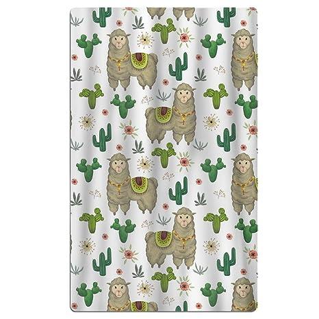 Plegs toalla de playa Cactus y Alpaca de secado rápido, ligera, super absorbente manta
