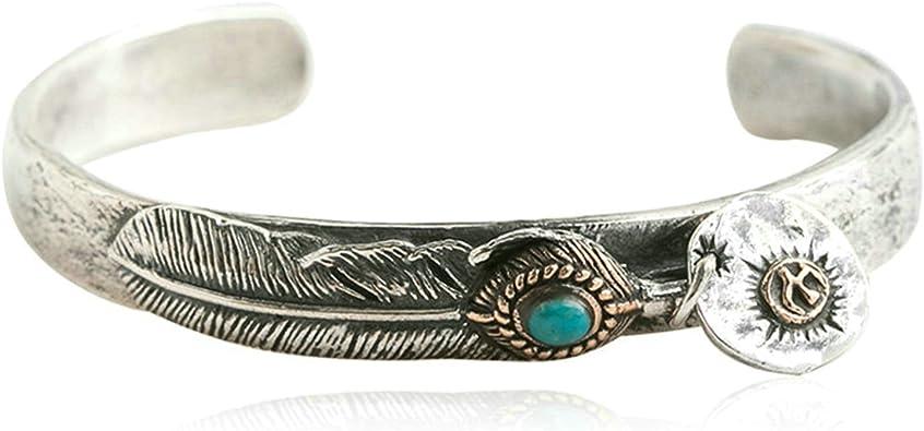 bracelet argent et turquoise homme