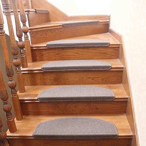 qingbei rina lot de 13 tapis de marches d escalier antiderapants pour interieur pour sols durs marron