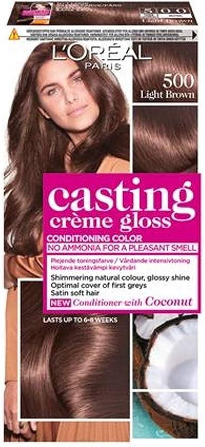 LOréal Paris Casting Crème Gloss 500 Café Lungo coloración del cabello Marrón - Coloración del cabello (Marrón, Café Lungo, Bélgica, 73 mm, 83 mm, ...