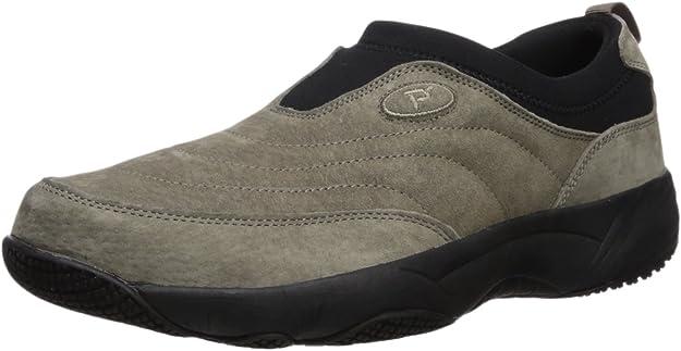 New Men/'s Propet #M4059 Saratoga Walker Brown Genuine Leather Slip on Shoes