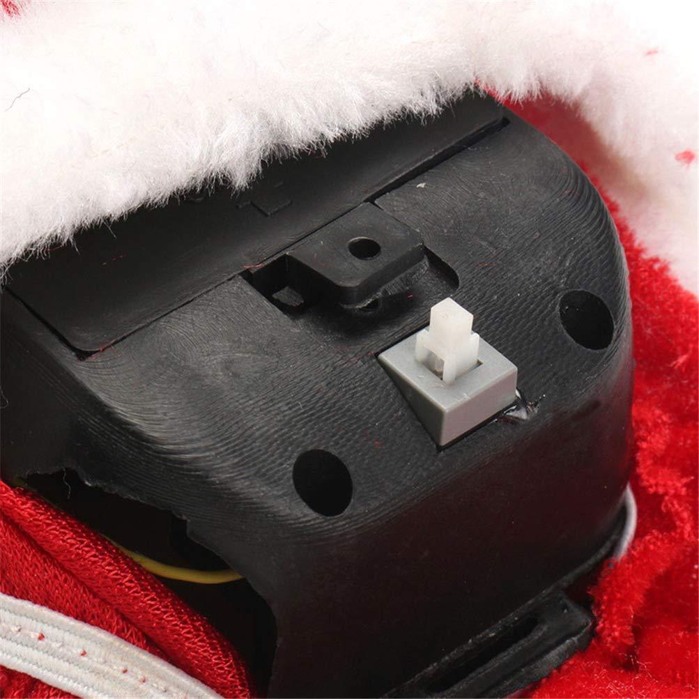 Asosmos Elektrisch Klettern Leiter Weihnachtsmann Weihnachten Figur Ornament f/ür Weihnachten Dekoration Party Heim Weihnachten Geschenke