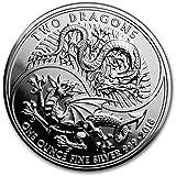 イギリス「ドラゴン・龍・ウェールズ・中国」 2018年 コイン 31.1グラム カプセル クリアーケース付き