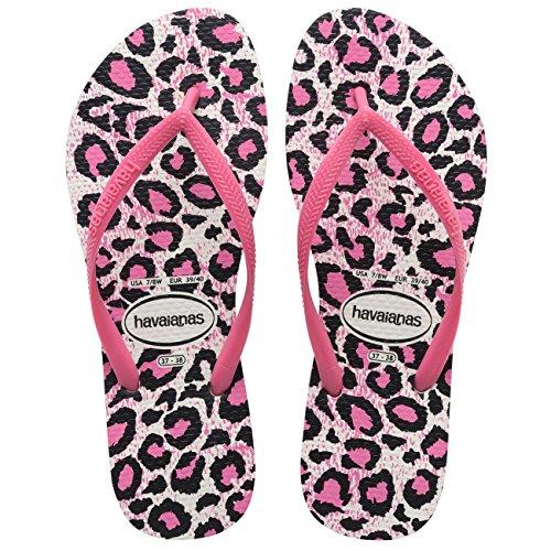Womens Havianias Slim Animal Thongs Rubber Brazil Multi Sandal Flip Flops Capri Blue eHTv3