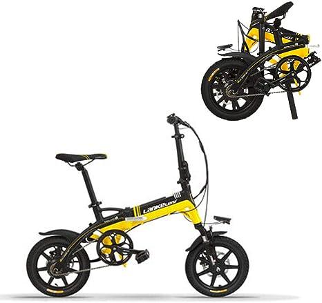 LETFF - Bicicleta eléctrica Plegable para Adulto de 14 Pulgadas ...