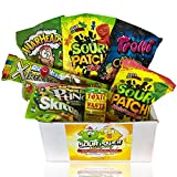 Super Sour Candy Mix: All Full Size, Only Top Name Brands, Sour Patch Kids, Watermelon, Trolli Crawlers, Sour Skittles, Toxic Waste, Sour Punch, Warheads & Airheads Xtremes, Unique & Cool Candy Gift!