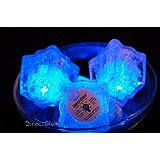 Set of 6 Litecubes Brand 3 Mode Blue Light up LED Ice Cubes