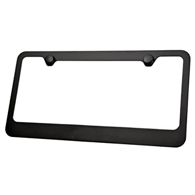 LFPartS Metal License Plate Frame (Black): Automotive