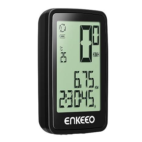 ENKEEO - Cuentakilómetros Ciclocomputador Inalámbrico Recargable ...
