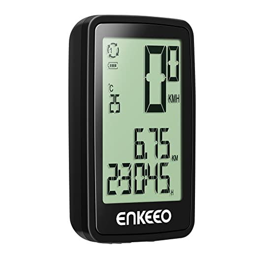 11 opinioni per Enkeeo Computer da Bicicletta Wireless con lo Schermo Retroilluminato Fino a 12