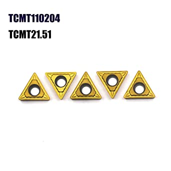 5 Pieces OSCARBIDE Carbide Turning Inserts TCMT090204 TCMT Insert CNC Lathe Inserts for Lathe Turning Tool Holder Replacement Insert