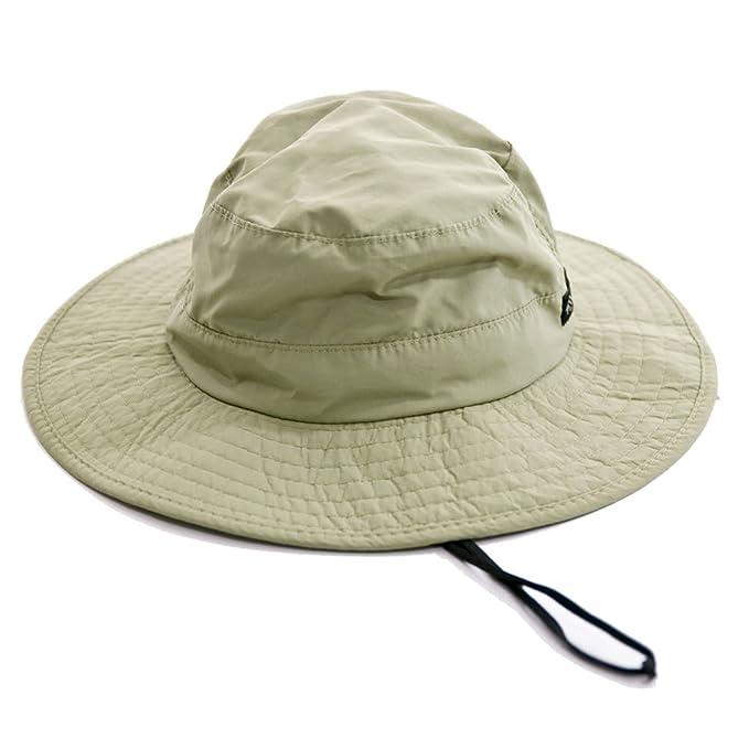 a66aa18000a05 Dorfman Pacific Men s 1 Piece Big Brim Boonie Hat with Nylon Chin Cord   Amazon.ca  Clothing   Accessories