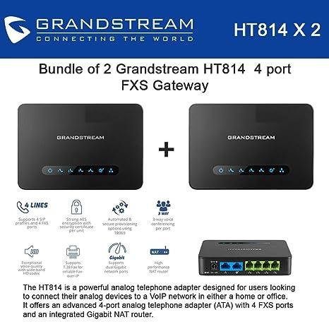 Amazon com: Bundle of 2 Grandstream HT814 4 port FXS Gateway