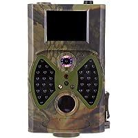 Wildkamera 1080P 12MP wild lebende Tiere Kamera mit verbessertem 850nm IR LED-Nachtsicht 65ft, 2.0''LCD IP56 Wasserdicht für Haussicherheits-Outdoor wild lebende Tiere Überwachung/Jagd (White)