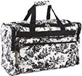 World Traveler Black Ivory Toile Duffle Bag 22-inch