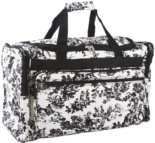 Off White French Toile Duffle Bag 22 Inch by Unbranded