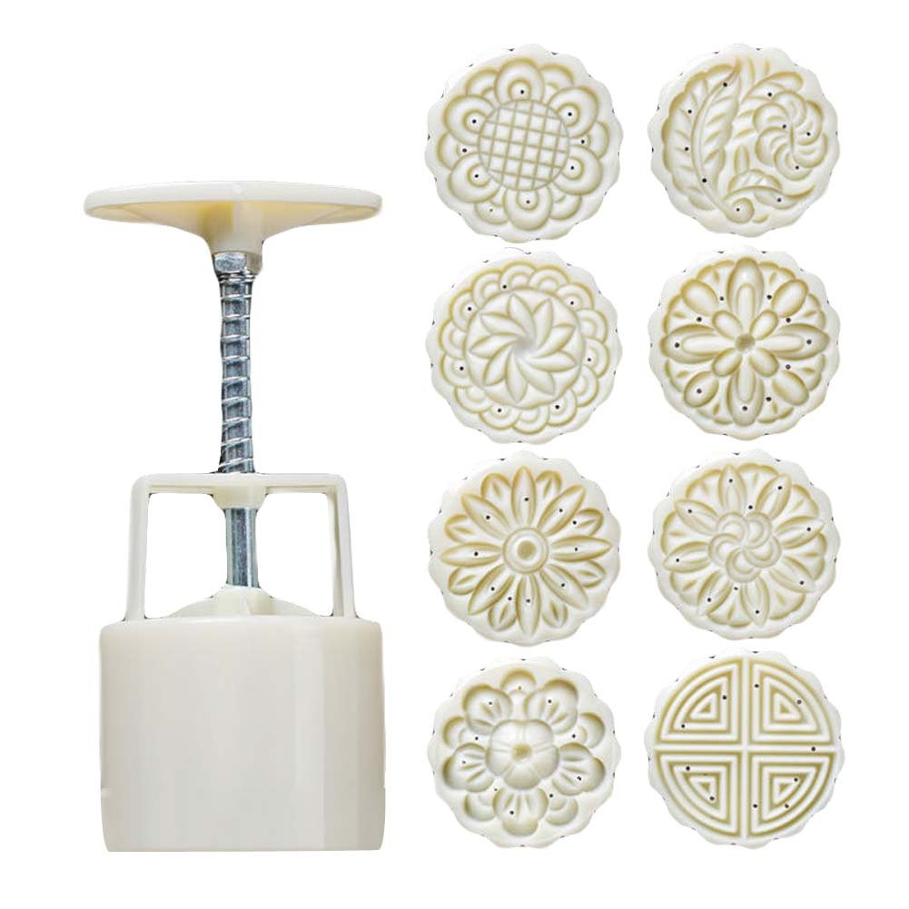 8 Stamps - Plastic Baking Molds - Moon Cake Mold Small Cake Mold ¨C 75G