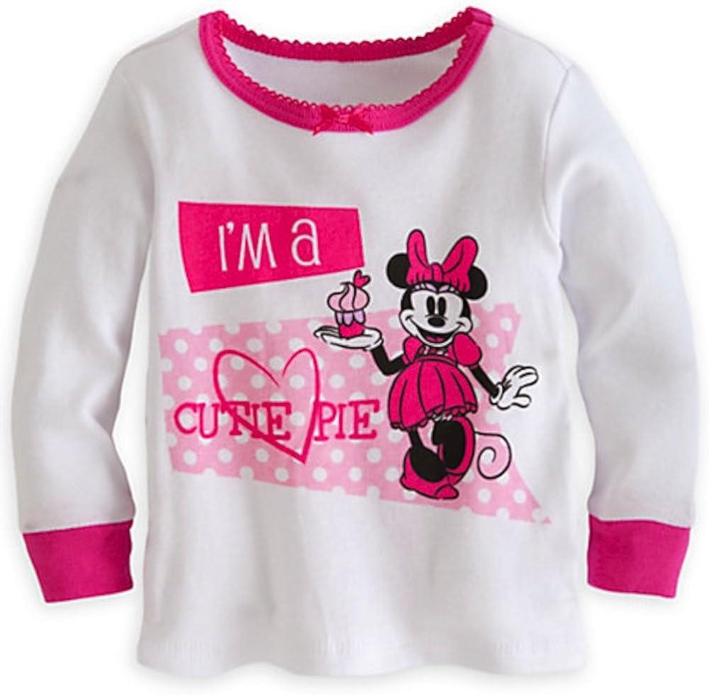 Disney Store Baby Girls Minnie Mouse Im a Cutie Pie PJ Pals Pajama Set Pink