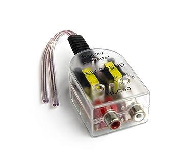Lautsprecherkabel auf Cinch Adapter Converter Levelconverter High ...