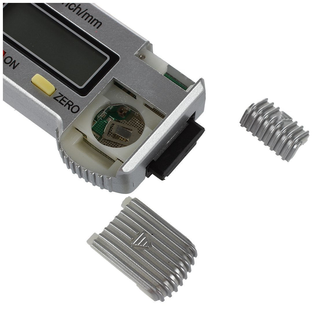 inch SODIAL R Digitaler Reifenprofil Tiefenmesser LCD Reifen Profiltiefenmesser 0-25.4mm Metric