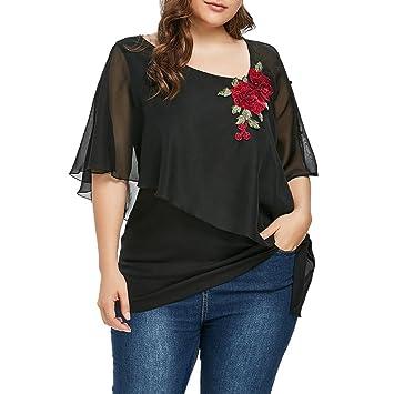 LILICAT® Camisetas Tallas grandes para mujer (XL ~ 5XL), 2018 Blusa de