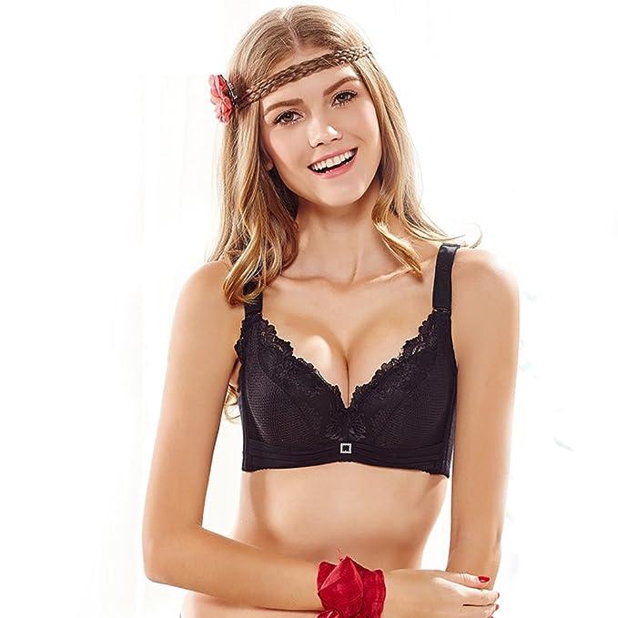 chica de la ropa interior/La ropa interior atractiva del cordón/Espesado se reunieron ropa interior/Silicona sujetador/ sexy sujetador-D 75A: Amazon.es: ...