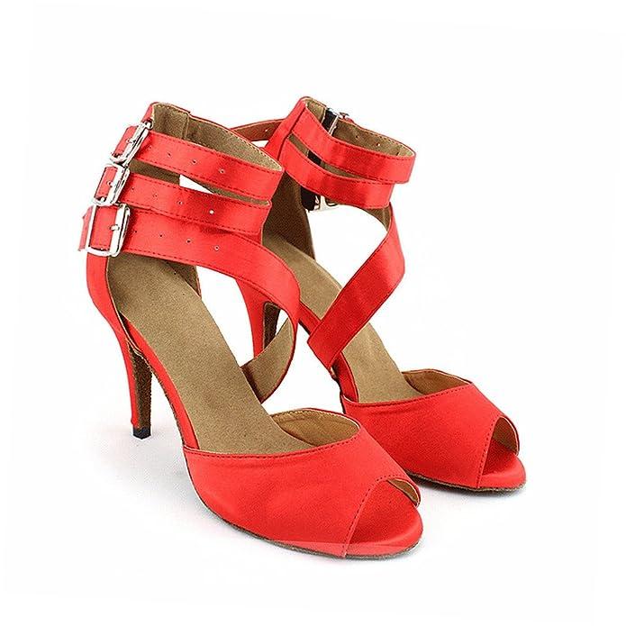 misu - Zapatillas de danza para mujer Rojo Red, color Rojo, talla 40 2/3