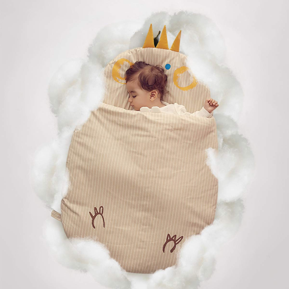 Bebamour Anti Kick Baby Sleeping Bag Safe Nights Cotton Baby Sleep Bag 2.5 Tog 0-18 Months and Above Cute Infant Boy Girls Sleeping Sack Baby Wrap Blanket Pink