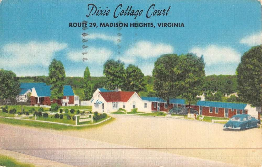 Madison Heights Virginia Dixie Cottage Court Street View Antique Postcard K46381 At Amazon S Entertainment Collectibles Store